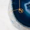 Collier et Pendentif plaqué Or Globe