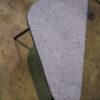 Table basse en pierre bleue certifié Upcycled. - Bleu Noir Brut