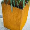 Bac à fleurs/Plantes en acier Corten - Bleu Noir Brut
