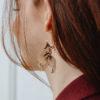Boucles d'oreilles plaqué or Poissons - Lola Troisfontaines