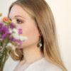 Boucles d'oreilles plaquées or et Labradorites - Lola Troisfontaines
