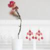 Boucles d'oreilles en or plaqué et crystal fushia - Lola Troisfontaines