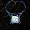 Collier mauve bleu et vert - Solal Bijoux