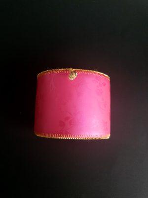 Manchette et son manchon réversible rose et imprimé écossais - Solal Bijoux