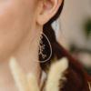 Boucles d'oreilles Fleurs tombantes en Or plaqué (n°31.2) - Lola Troisfontaines