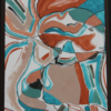 Cubisme Turquoise - Mélanie Maquinay