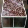 Table basse marbre rouge - Bleu Noir Brut