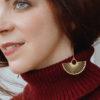 Boucles d'oreilles en Laiton Eventail - Lola Troisfontaines