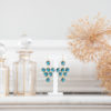 Boucles d'oreilles en or plaqué et crystal iolite - Lola Troisfontaines